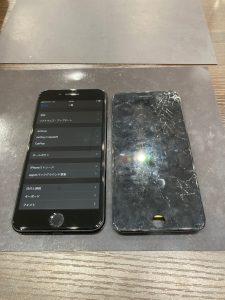 アイフォーン7P 画面割れ修理