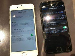 アイフォン8を2台電池交換