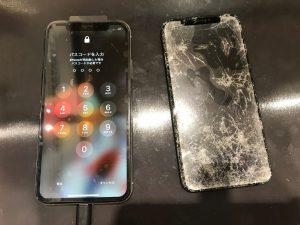 画面交換で復活アイフォンXSマックス