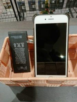 iPhone6sのバッテリー交換 ガラスコーティング