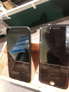 iPhone8 画面交換 画面割れ ひびわれ