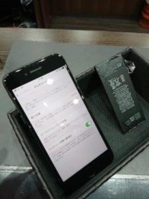 バッテリー交換 アイフォン8 フィルム貼り替え