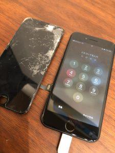 画面交換後のiPhone8