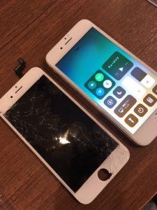 落として割れてしまったアイフォン6s