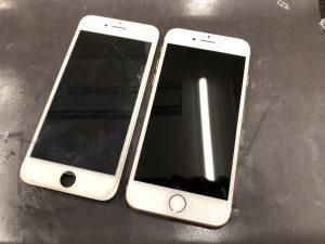 画面修理後iphone8