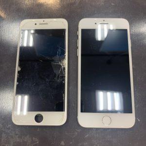画面修理をしたiPhone8