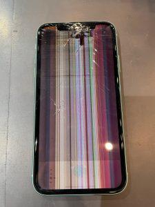 画面が不具合を起こしているiPhoneXR