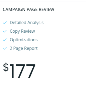 campaign page review