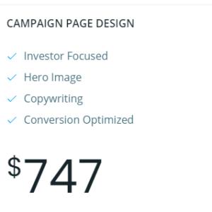 campaign page design
