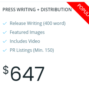press writing + distribution