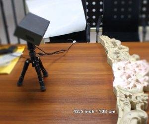 Quét 3D bề mặt tượng gỗ sử dụng máy quét 3D cầm tay Thunk3D Fisher