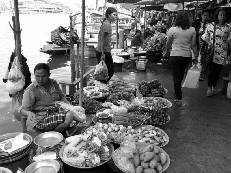 100 Year Old Market by Pak Phanang River, Thailand