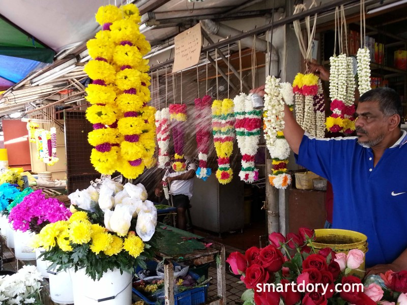 Oldest flower stall in Penang's Little India at Pitt Street George Town