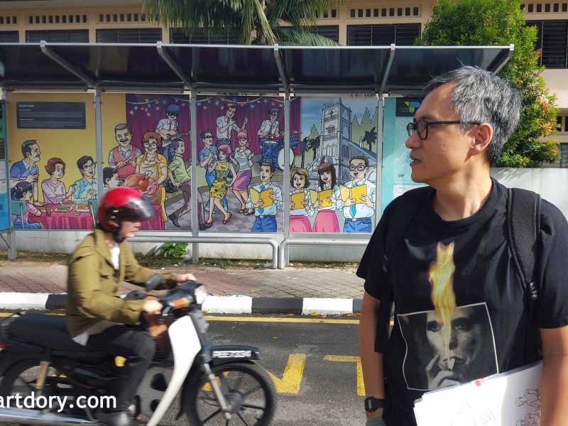 Lefty Julian's Comic Page Bus Stops In Pulau Tikus – Penang