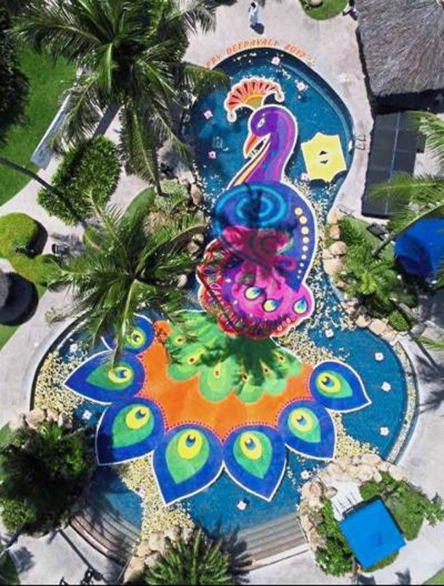 Floating Kolam Artwork | Golden Sands Resort, Penang