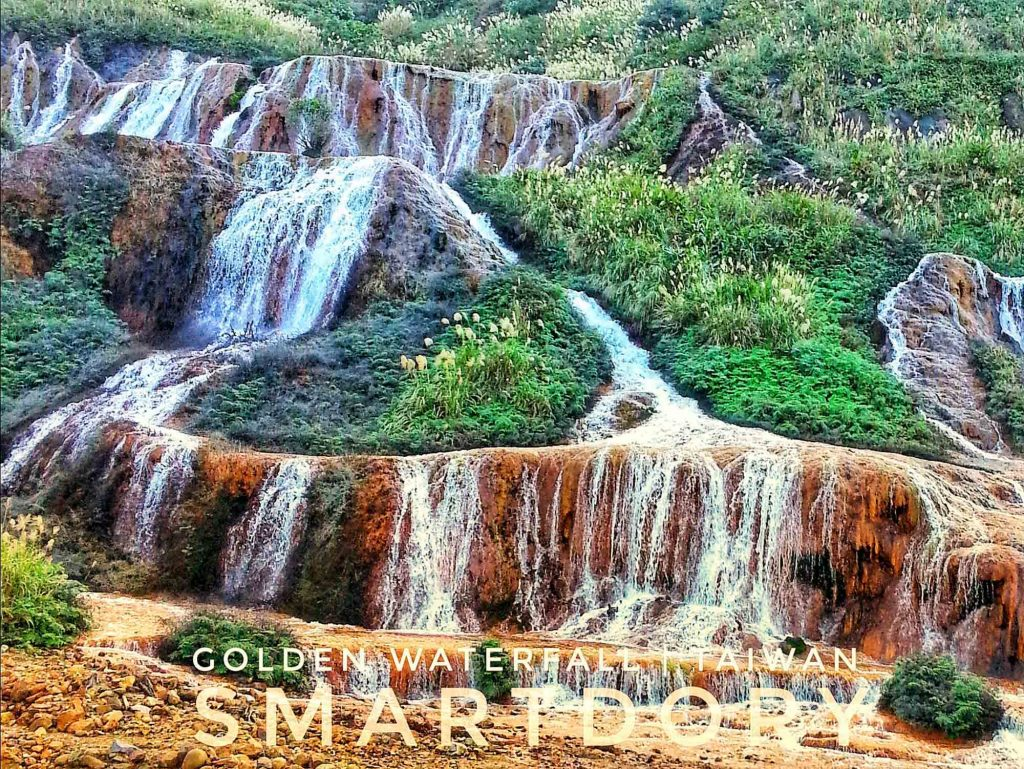Cascading Riches Golden Waterfall - Northern Taiwan
