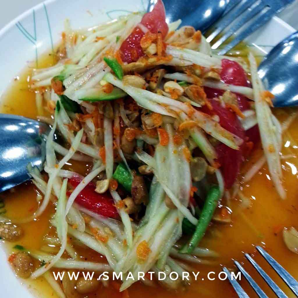 Top 5 Places to Go and Things to Do in Hua Hin Thailand_Thai Green Papaya Salad