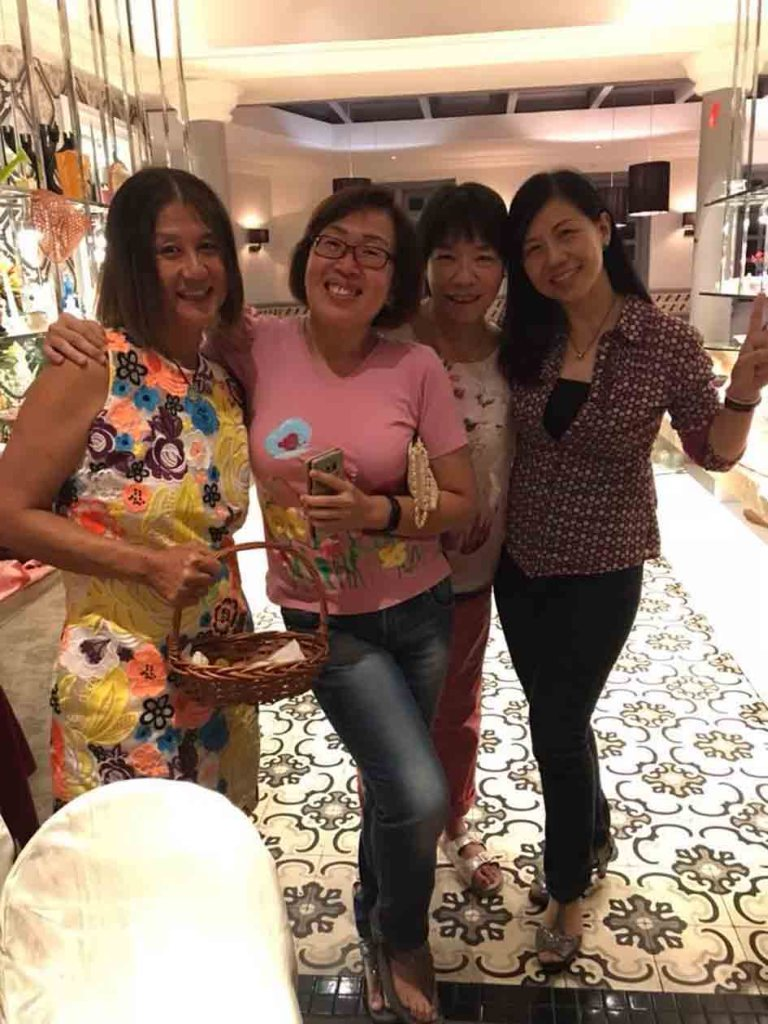 CLS Girls Celebrate Friendship Forged Over the Years_Tina, Doris Lim, Lili Goh and Mabel Chan