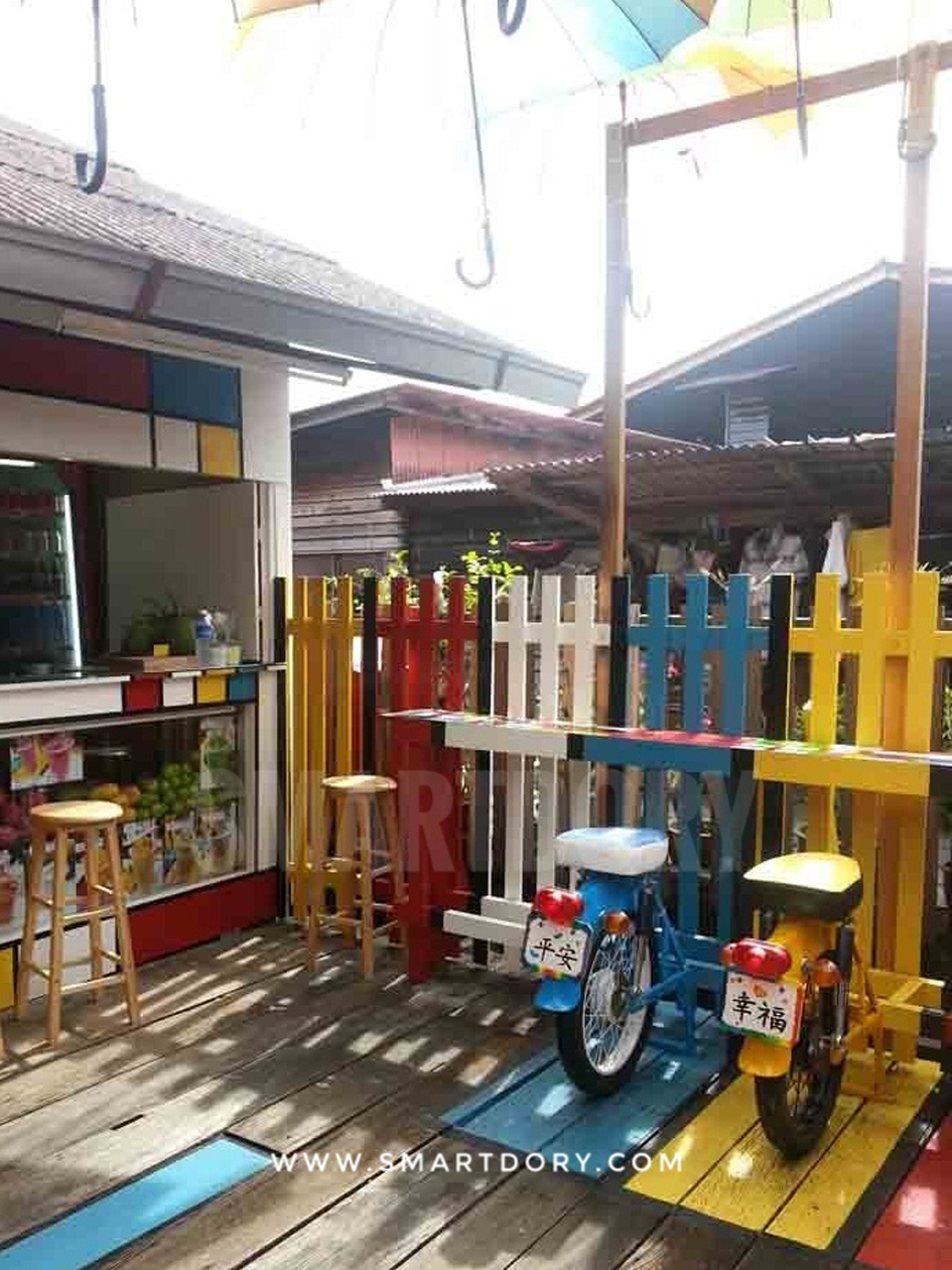 A bright cafe at Chew Jetty Penang.