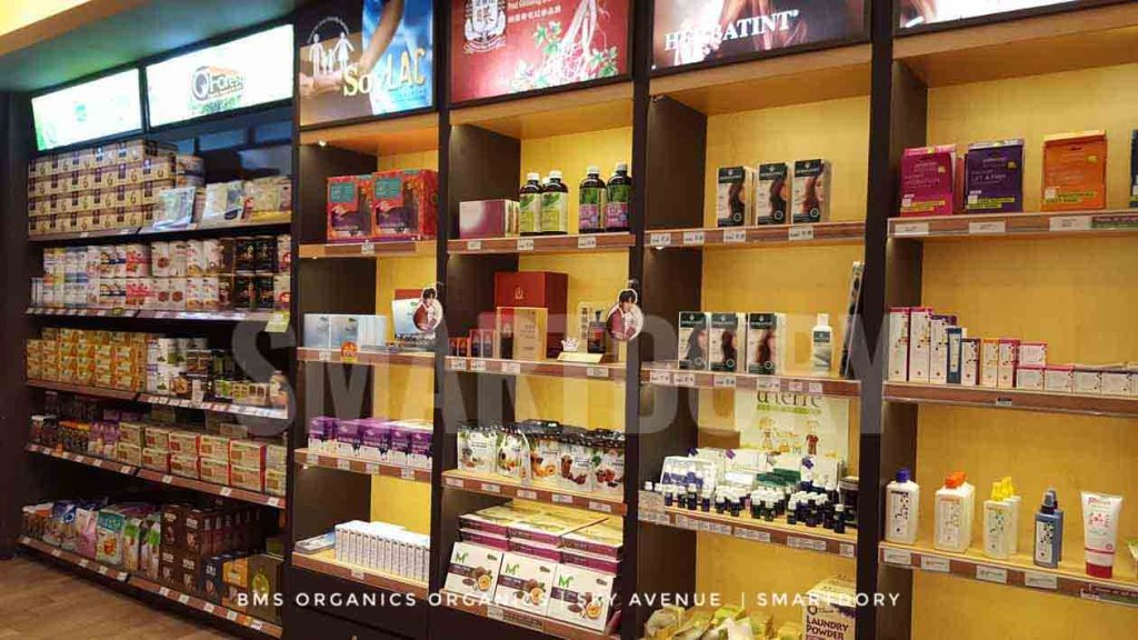 Don't Panic Go BMS Organics Healthy Food Cafe Sky Avenue_Open Shelves
