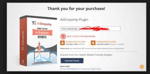 alidropship thank you page