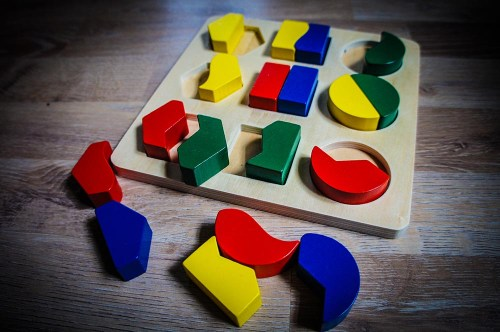 Holz Einlege Puzzle Geometrische Formen
