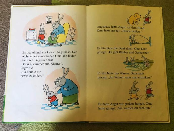 Einblick in das Buch Der kleine Angsthase