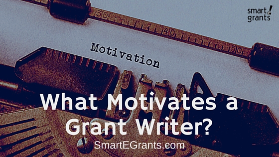 What Motivates a Grant Writer?