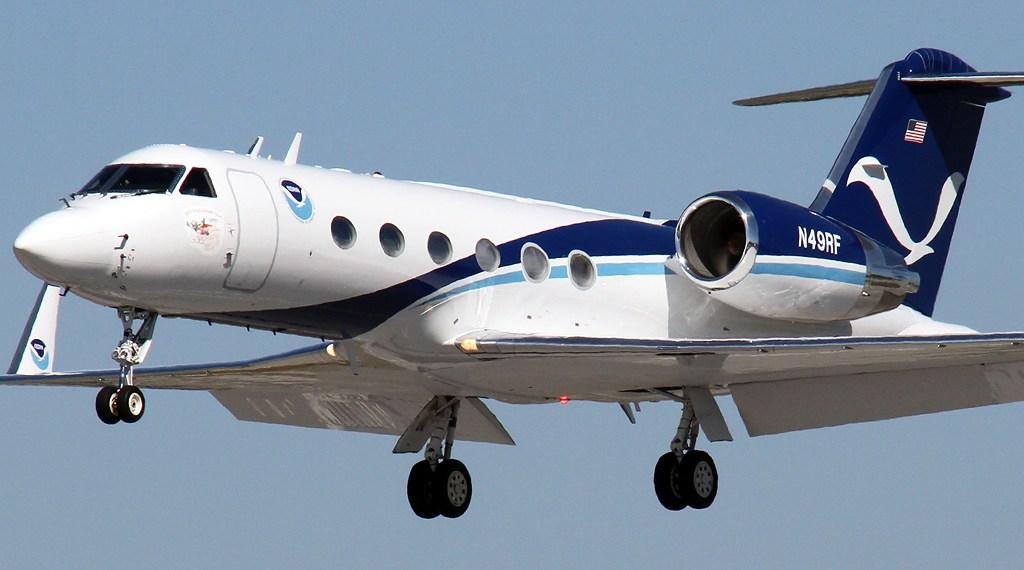 Aeronave NOAA Gulfstream IV-SP para impulsionar a previsão do tempo na América do Norte