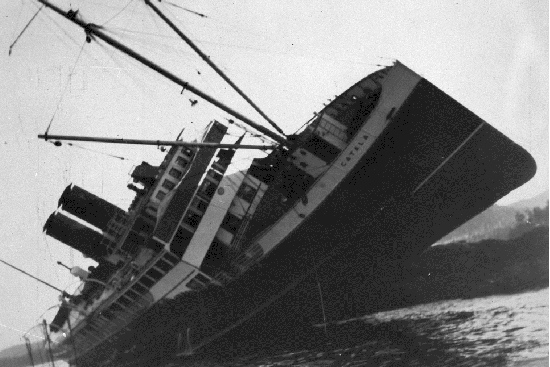 Catala wrecked on Sparrowhawk Reef 1927