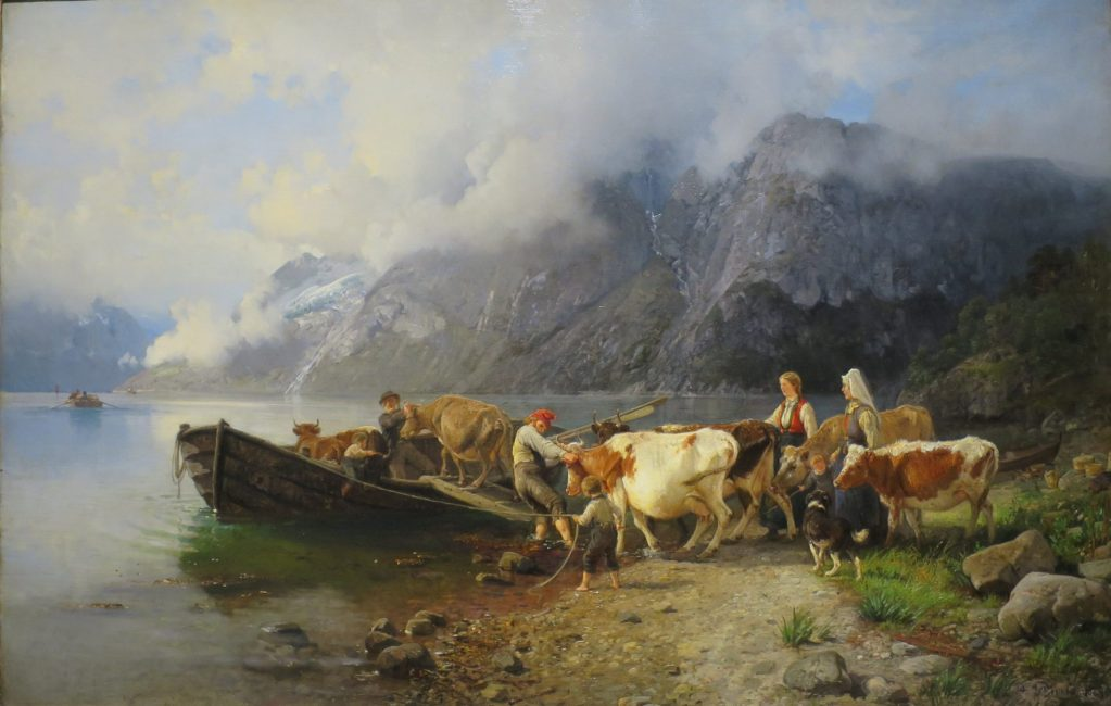 Fjord Landscape with Cattle by Anders Askevold Bergen Kunstmuseum
