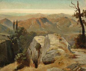 Oswald Achenbach Studie aus Oberitalien