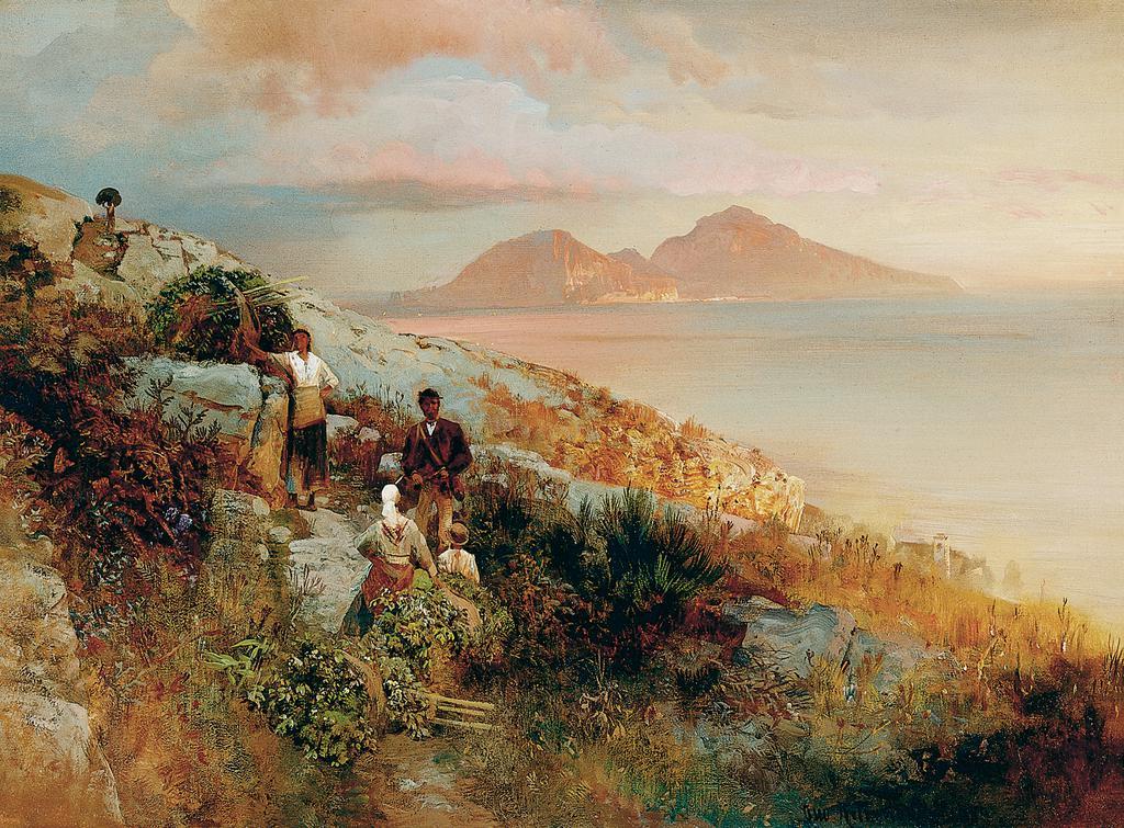 Oswald Achenbach Blick auf Capri Von der Heydt Museum