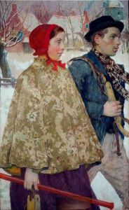 Winter by Gari Melchers c. 1880 90