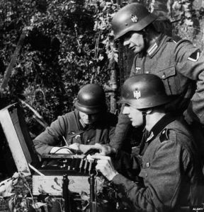 Germans employ Enigma coding machine for the first time 1