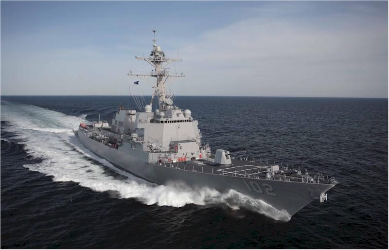 USS Sampson DDG 102 at sea