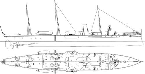 sns destructor torpedo gunboat 1887 92224