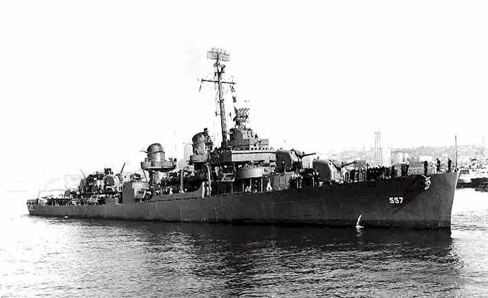 Encontrado navio USS Johnston, naufragado durante a II Guerra Mundial