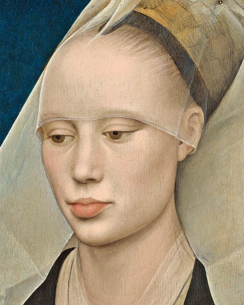 Rogier van der Weyden Portrait of a Lady c1460 oil on panel detail of 741888 MeisterDrucke 359691