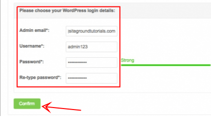 WordPress login details - Siteground - smart entrepreneur blog
