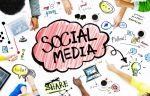 social media for small businesses with group of people and social icons