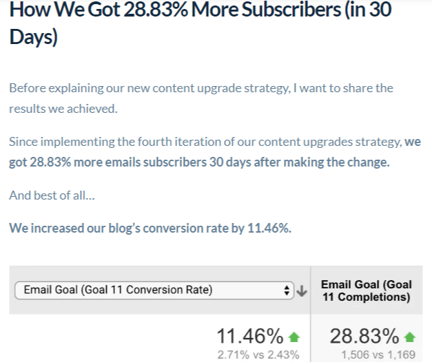 case study: how we grow our email list by 28.83 percent