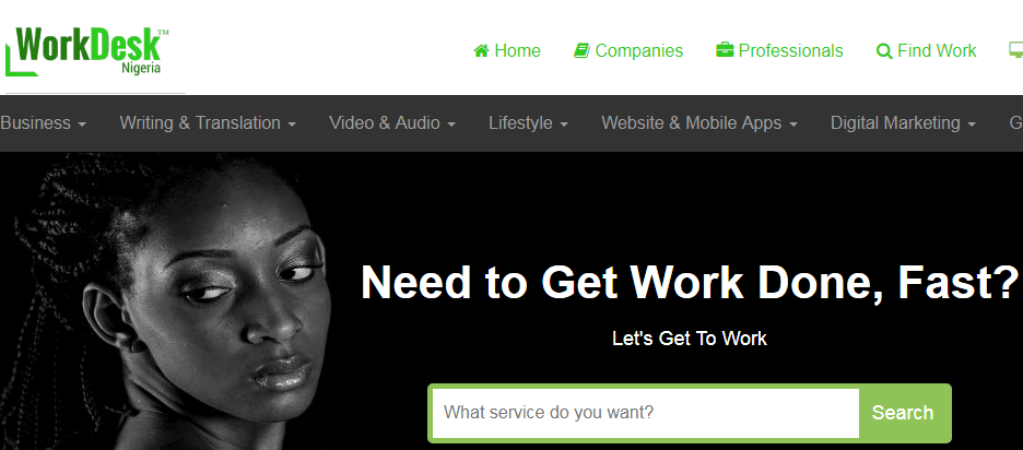 workdesk - freelance marketplace for Nigerians