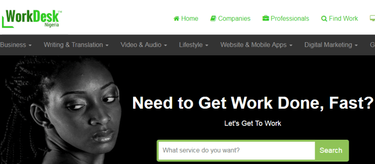 workdesk - freelance marketplace for Nigerians