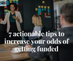 tips to increase chances of securing funding for your small business - a business owner pitching investors