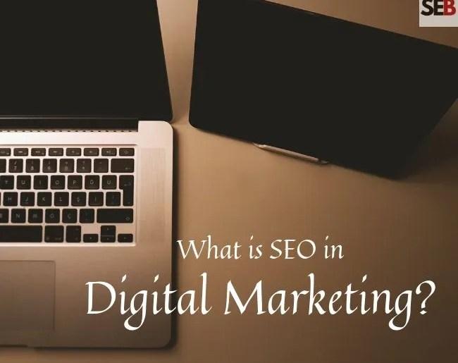 What is seo in digital marketing - open laptop, a tablet, seo in a nutshell