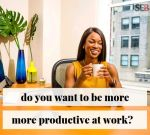 want to become more productive at work - smiling female executive in her office