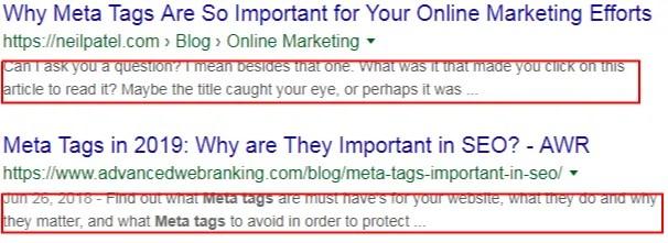 screen shot of meta description - what is seo in digital marketing