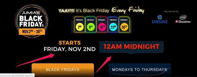 Jumia Black friday Nov 2 2019, best black friday deals