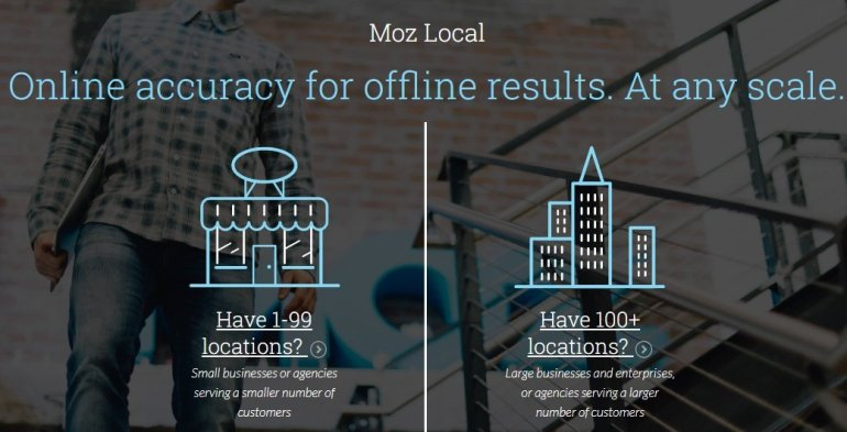 Moz local high end tool for local seo management
